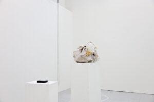 Plaster. Thread. Fabric. Cotton. Insulation. / 53 x 47 x 33 cm